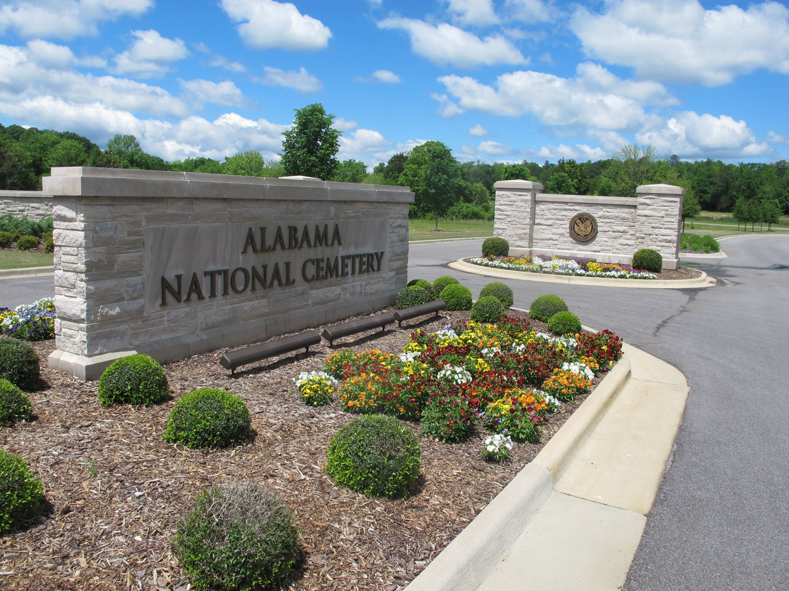 Alabama National Cemetery Sign