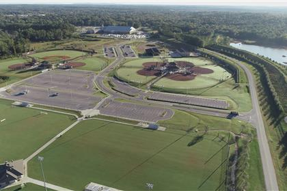 Aerial of Eagle Sports Complex in Calera 3