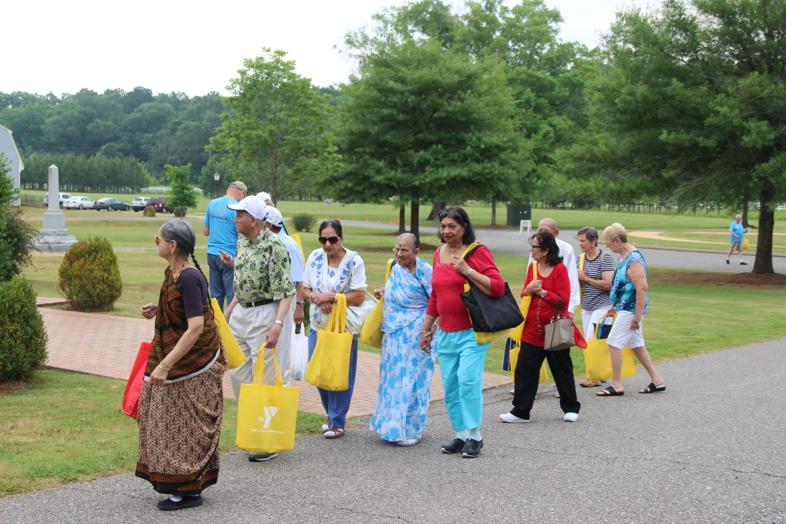 Image of people visiting attractions at The American Village