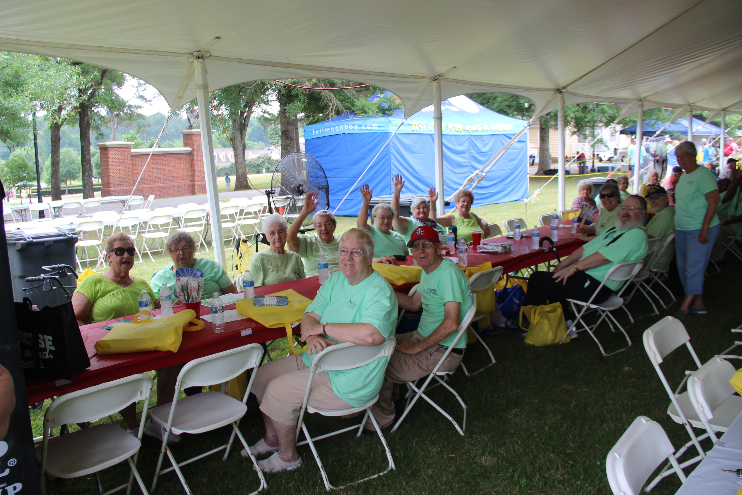 Image of people fellowshipping at the 2016 Senior Picnic