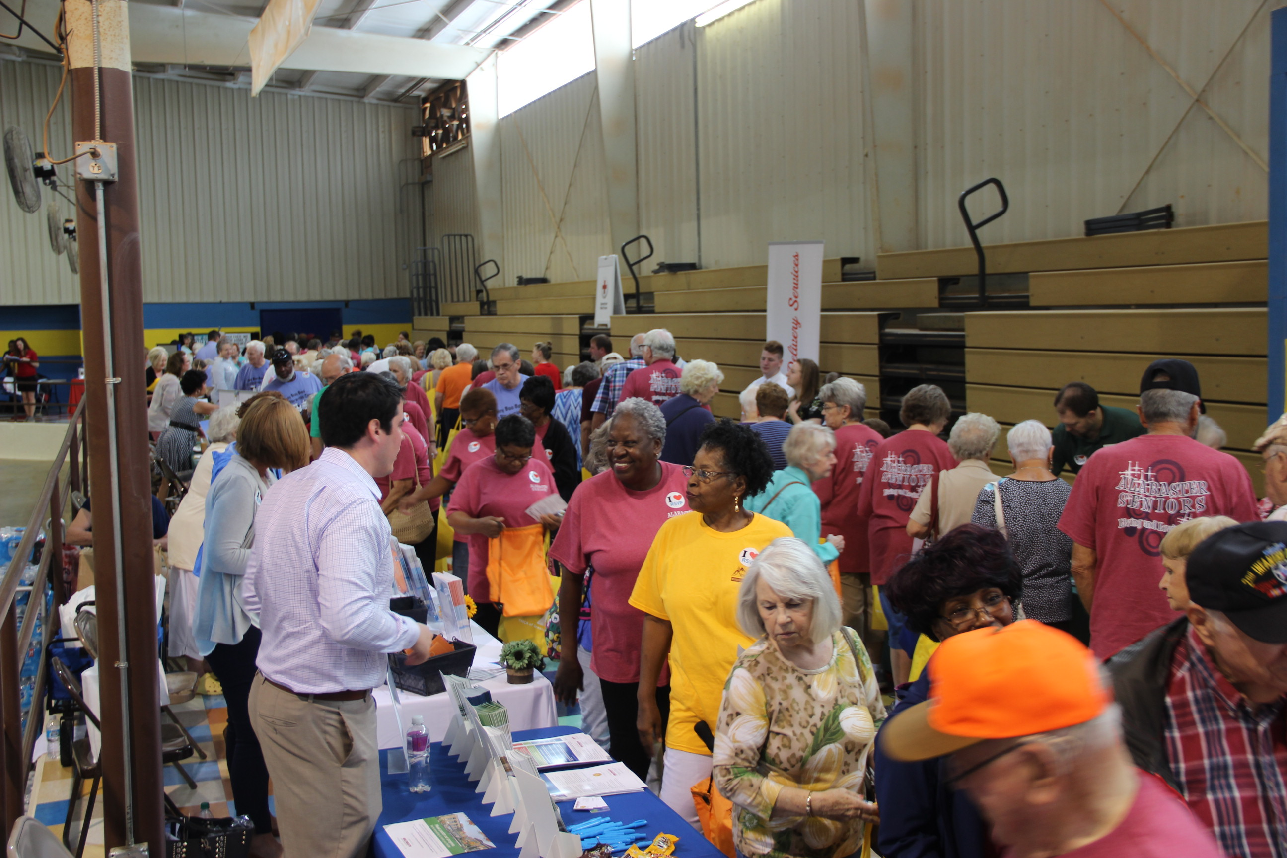 Seniors Visiting Vendors