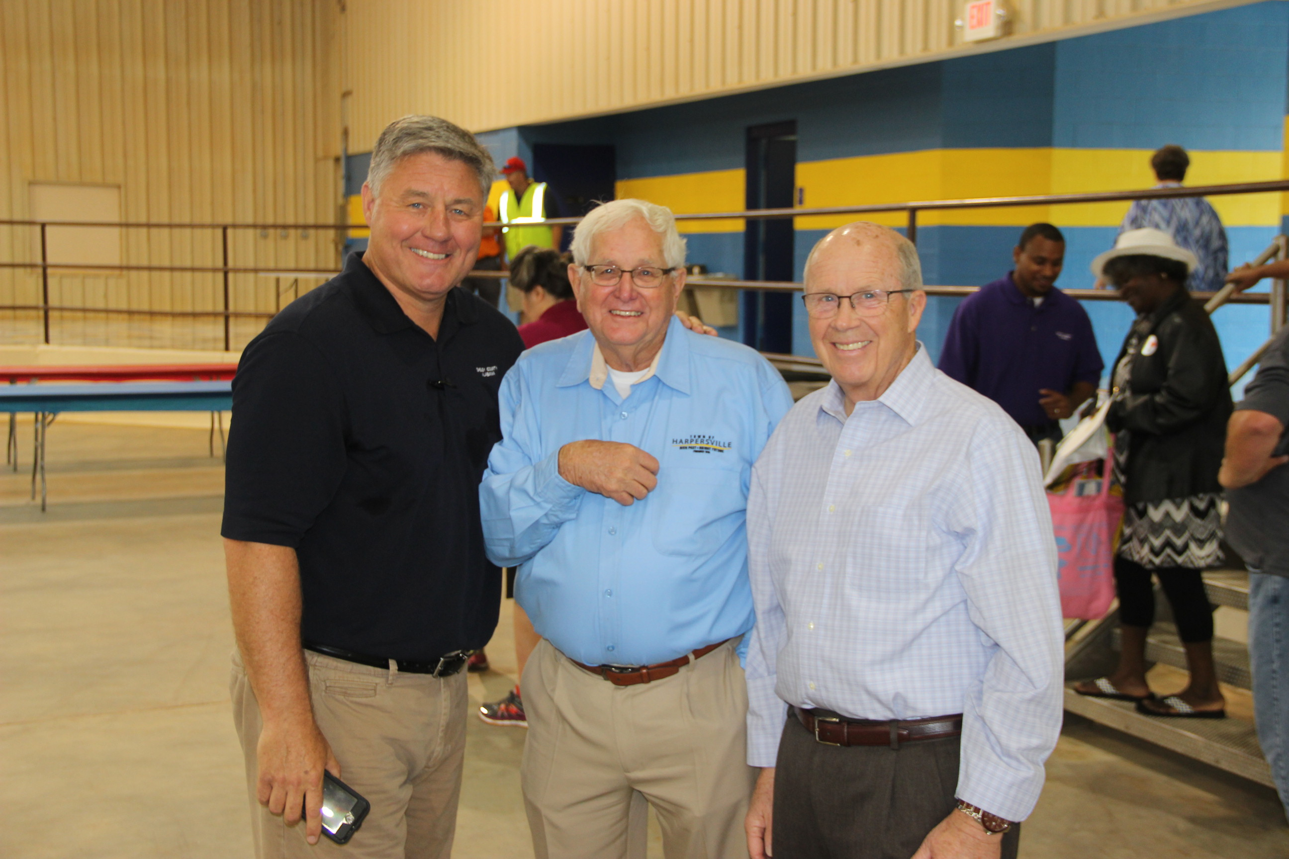Image of Alex Dudchock, Don Greene, and Don Armstrong at the 2017 Senior Picnic