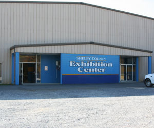 Image of the Shelby County Exhibition Center front entrance