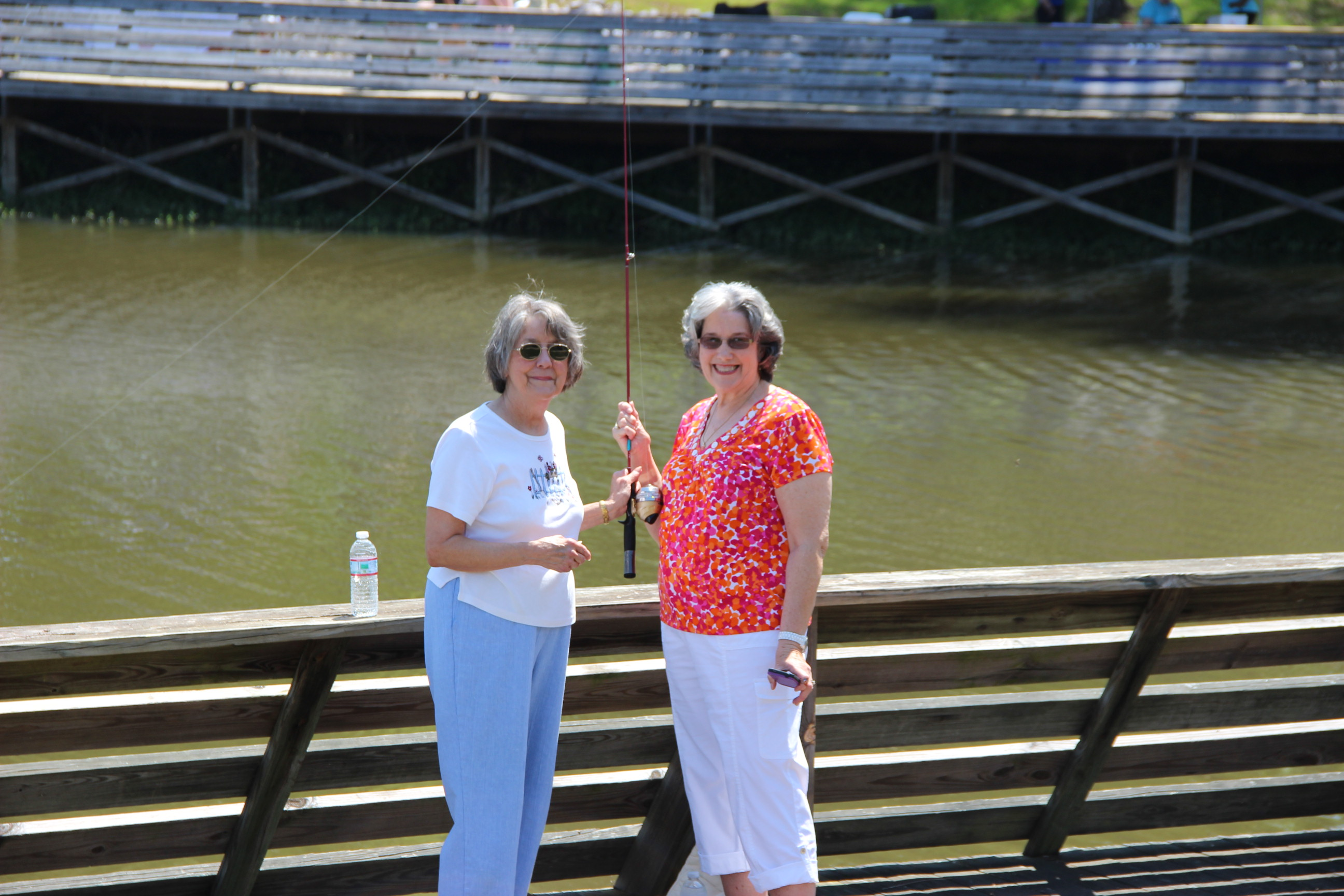 Image of two ladies fishing